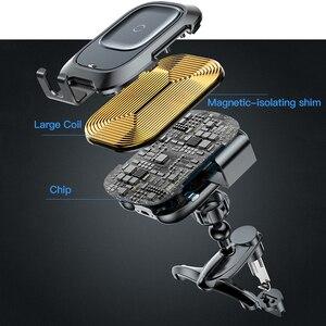 Image 5 - Baseus حامل هاتف السيارة آيفون سامسونج ذكي الأشعة تحت الحمراء تشى سيارة شاحن لاسلكي الهواء تنفيس جبل حامل هاتف المحمول حامل