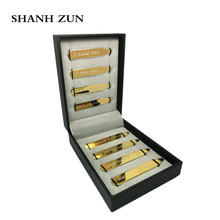 SHANH ZUN 8 Pcs Love Notes Stainless Steel Collar Stays in Gift Box for Him