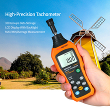Digital Tachometer Handheld Contact Motor Tachometer LCD Speedometer Tach RPM Meter Contact-type Digital Tachometer 50~19999rpm dt 2236a 5 digits 31mm lcd photo contact digital tachometer revolution meter handeld tachoscope