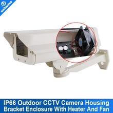IP66 Al Aire Libre Carcasa de La Cámara de Vigilancia de Seguridad CCTV Soporte De Caja Con Calefactor Y Ventilador Para El Extremo Frío O Caliente Al Aire Libre