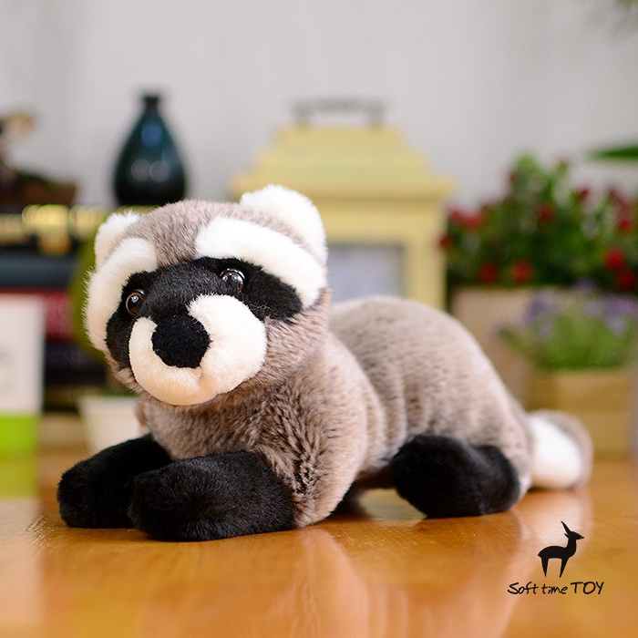 Kids Toys  Gifts  Simulation  Raccoon Doll  Cute   Plush Toy  Stuffed  Animals cute simulation fox plush toys kids appease doll gifts