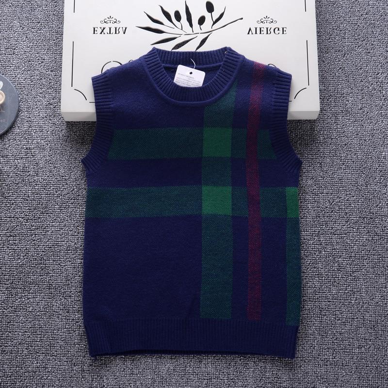 b24ccf1d6 2-7Y Boys Sweater 2018 England Style Brand Design Knit Vest Children ...