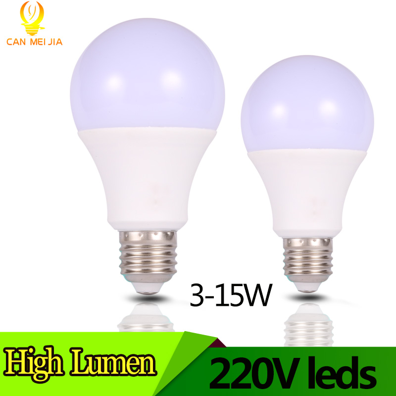 LED Bulb Light E27 Lampada 3W 5W 7W 9W 10W 12W 15W 220V High Brightness Bombillas Led Light for Home Lighting Warm Cold White ...