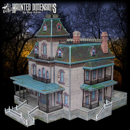 Ghost House-The Phantom Manor Paper Model