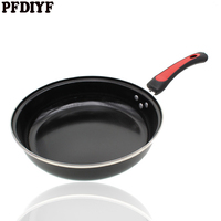 30 cm Big Nonstick Wok Pan Frying Pan High Quality No fumes Large Black Pan Home Cooker Pot Use for Gas Induction Cooker