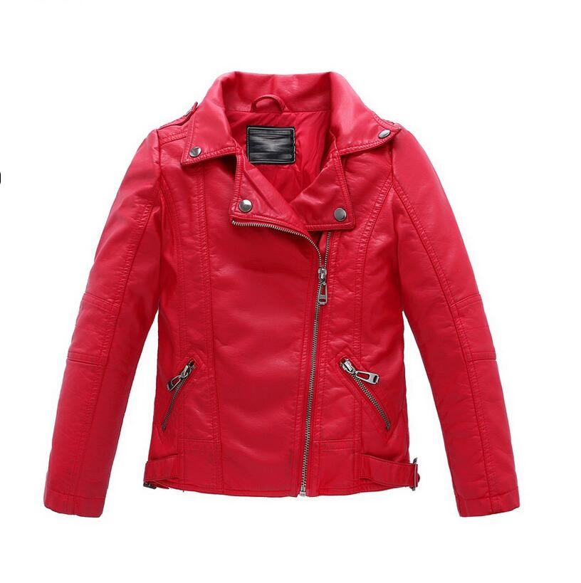 Baby Boys Leather Jacket Kids Girls and Coats Spring Kids Leather - Children's Clothing - Photo 4