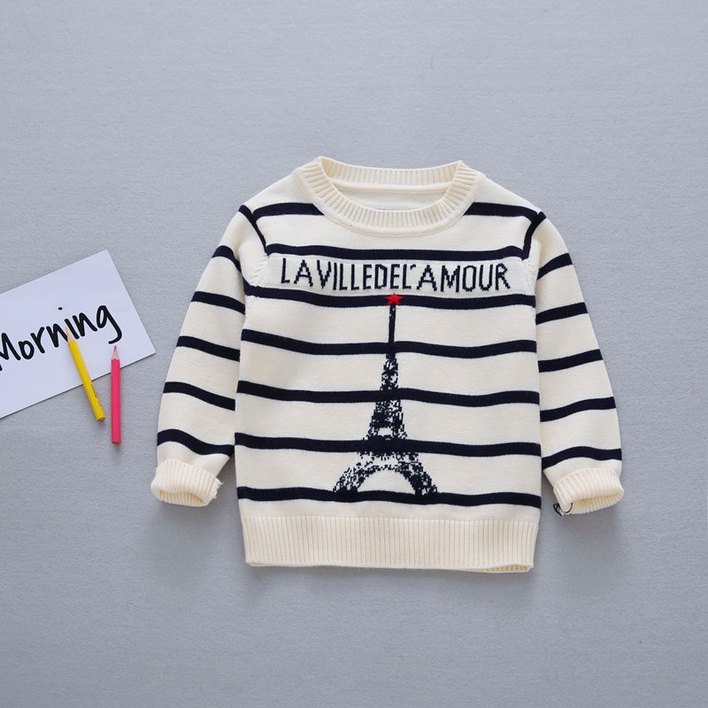 Autumn-Preppy-Chic-Girls-Boys-Kids-Baby-Infants-Long-Sleeve-Letter-Strip-Tower-Outwear-Pullover-Knitwear-Sweater-Camisola-MT1276-4