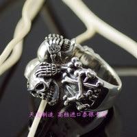 Тайский серебряное кольцо черепа