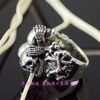 Тайский серебряный череп кольцо
