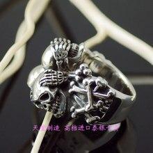 Thai silver skull ring