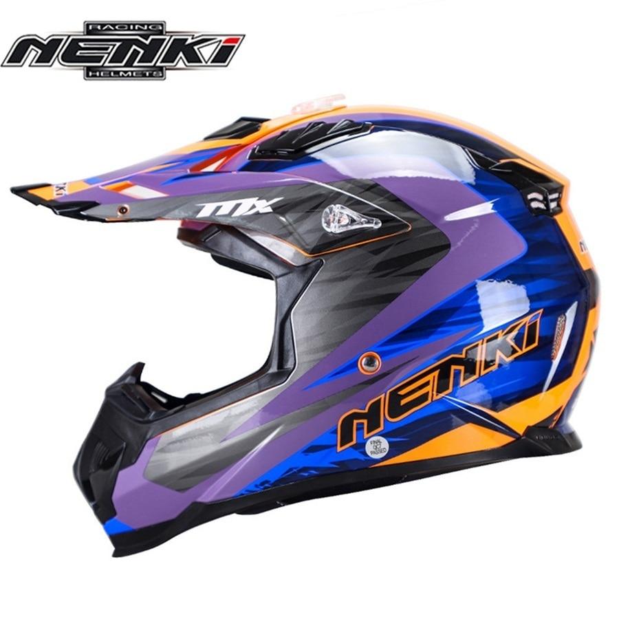 Frete grátis pcs NENKI 1 Casco Motocicleta Moto Moto Motocross Downhill Off Road ATV ABS Capacete DOT Capacete Da Motocicleta