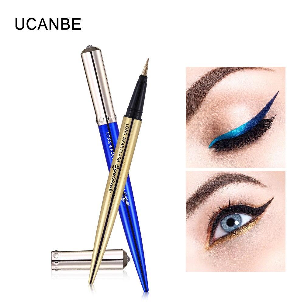 Ucanbe makeup glitter eyeliner pencil 5colors purple blue green eye liner waterproof long lasting liquid white eyeliner AU045 1