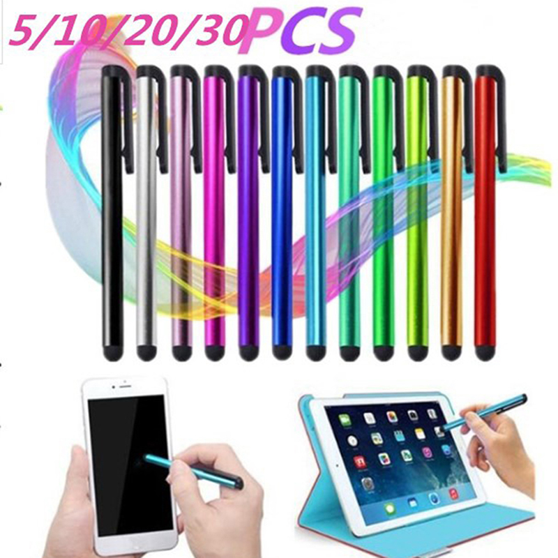 5//10 Metal Stylus  Anti-Dust Plug  /& Touch Screen Pen For Cell Phone iPad Tablet