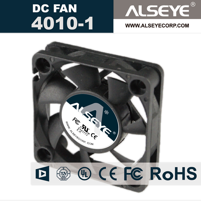 ALSEYE 4010 DC Cooling Fan, 12v 7000RPM 40mm Fan Radiator, Hydraulic Bearing Cooling Fan Cooler 40 x 40 x 10mm sunon original kde2404pfv3 double ball bearing cooling axial fan dc 24v 0 9w 4010 40 40 10mm 100 pcs lot