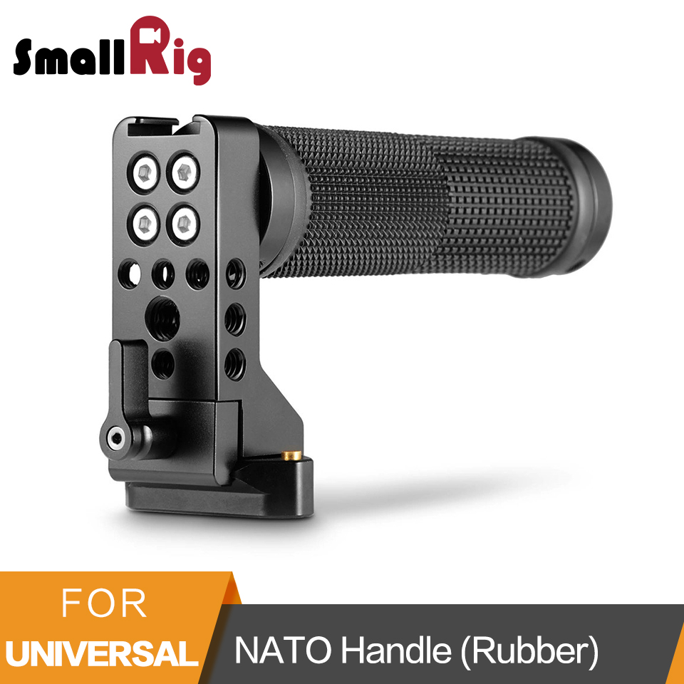 SmallRig QR NATO Handle (Rubber) With Safety Rail Quick Release Camera Handle Universal Hand Grip - 2084