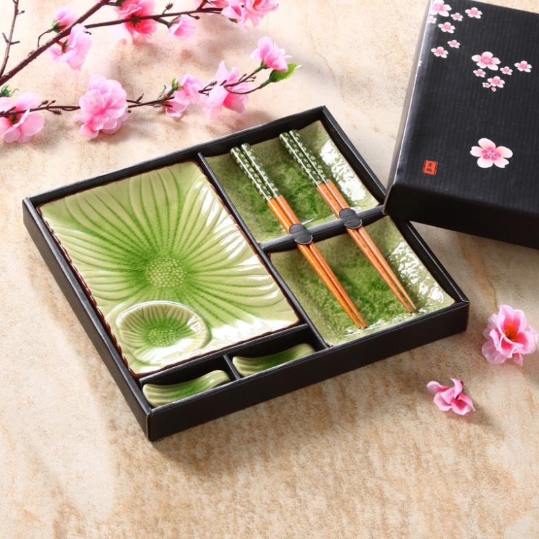 Jingdezhen Ceramic Tableware Japanese Ice Crack Plates Dishes Sushi Plate  Chinese Sushi Set Onsale!(