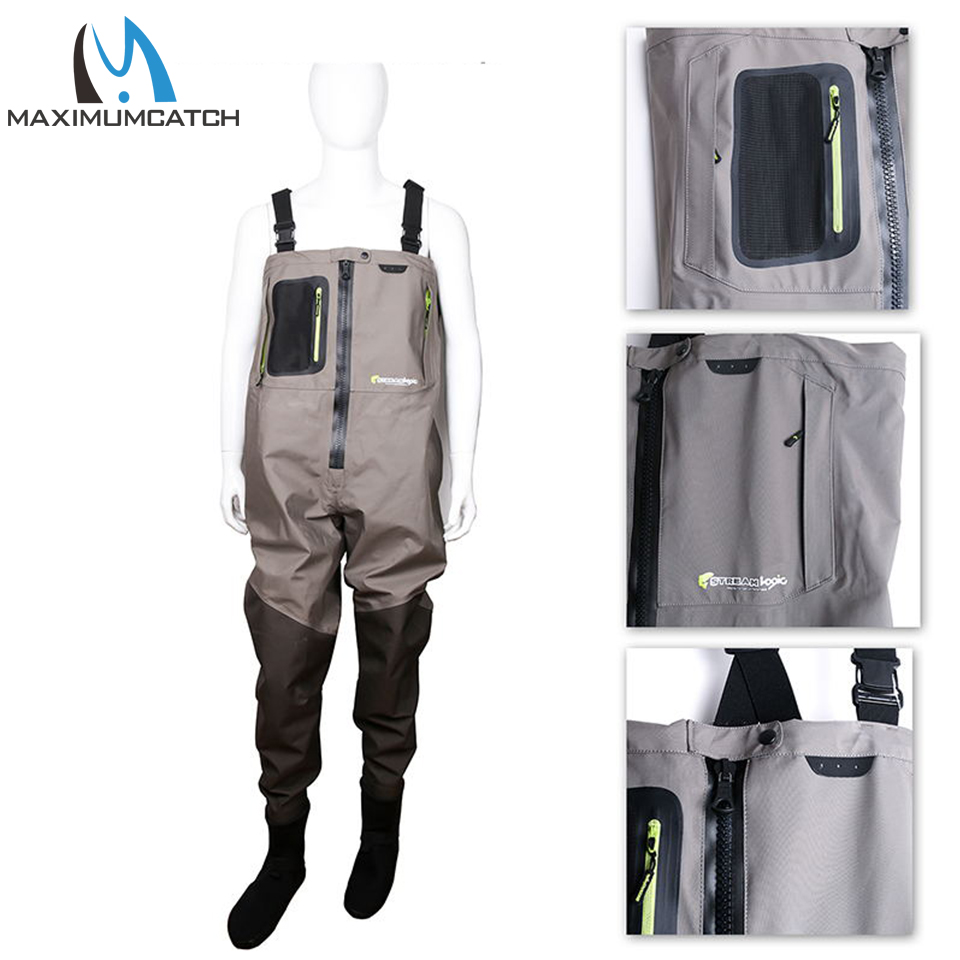 цена на Maximumcatch Outdoor Stocking Foot Light Weight Breathable Fly Fishing Wader Waterproof Wading Pants