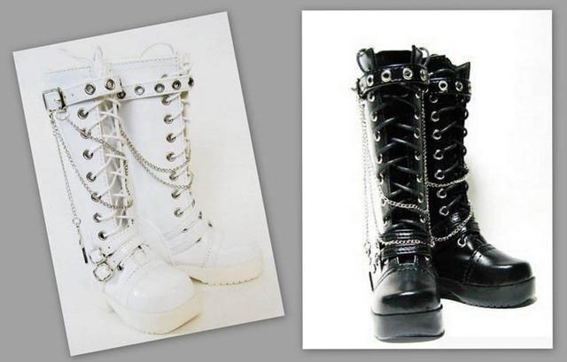 70 cm 1/3 1/4 kadın erkek erkek kız SD AOD KÖPEK BJD MSD Dollfie Sentetik Deri PU ayakkabıları siyah beyaz çizmeler ayakkabı YG020