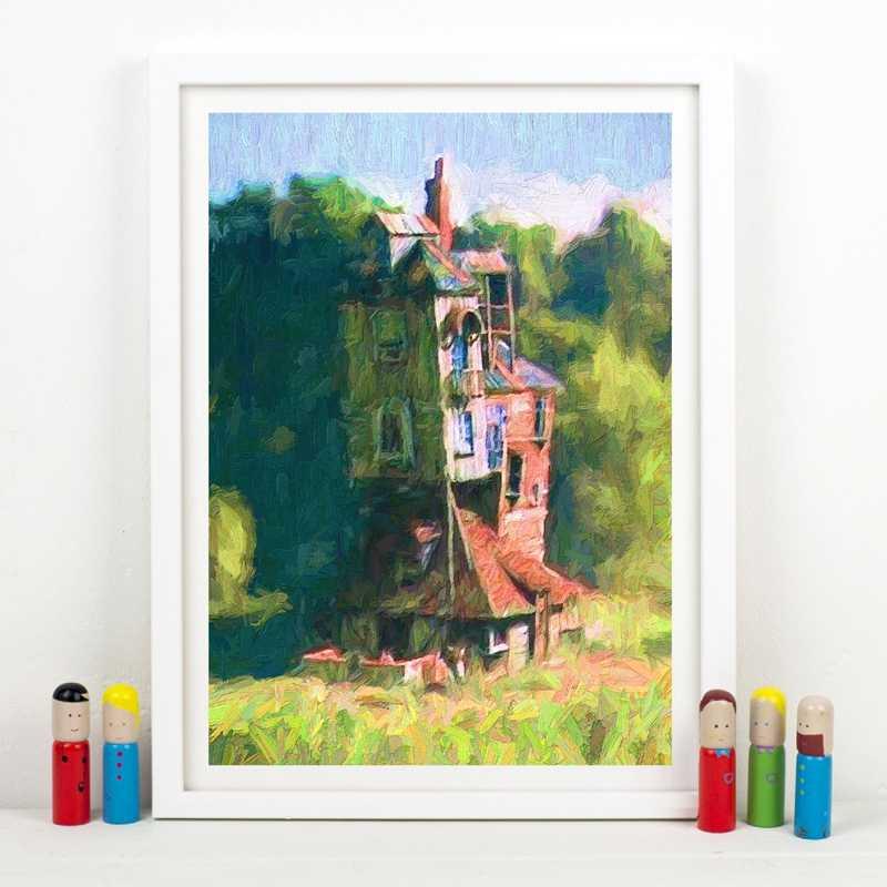 The Burrow Minyak Lukisan Poster Weasley Rumah Dinding Gambar Kanvas Harry Dinding Seni Dekorasi Kamar Anak Dekorasi