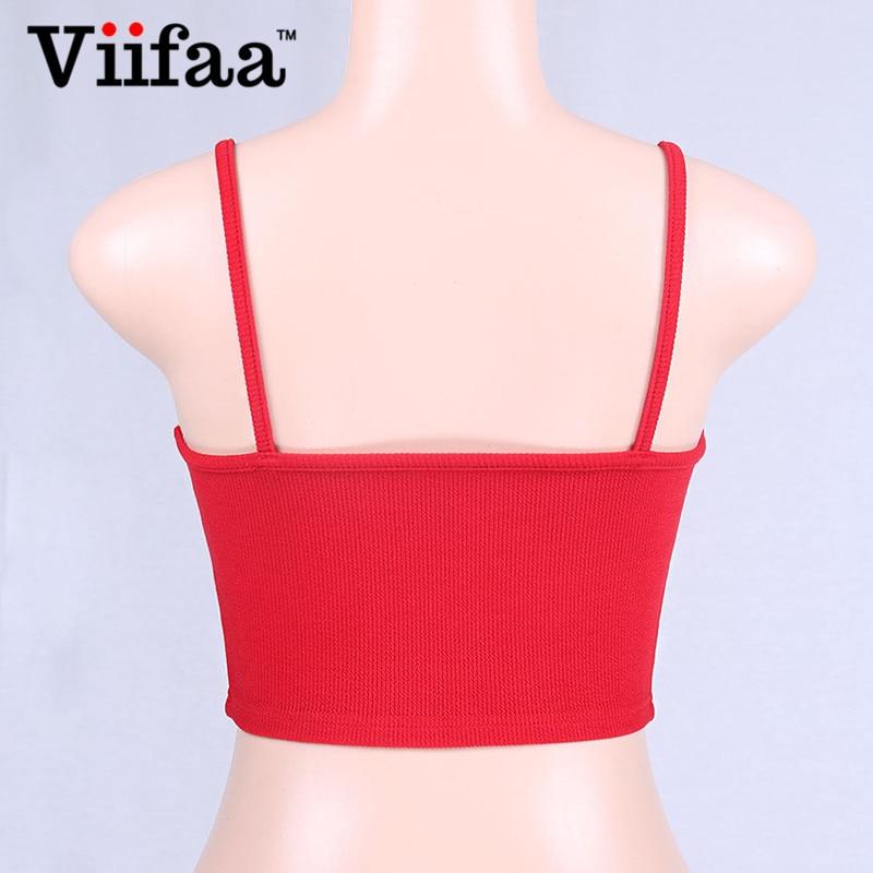 Viifaa Sexy White Crop Top Women Knitted Tank Top Summer 2018 Streetwear Short Bustier Tops Crop Top