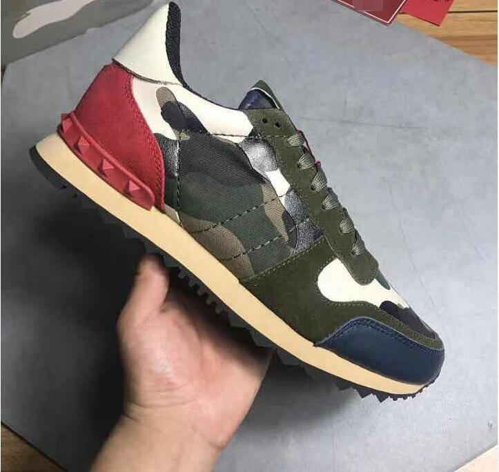 Men Shoes Luxury Brand Casual Shoes Stud Camouflage Sneakers Shoes Footwear Men Women Flats High Quality Casual Shoes