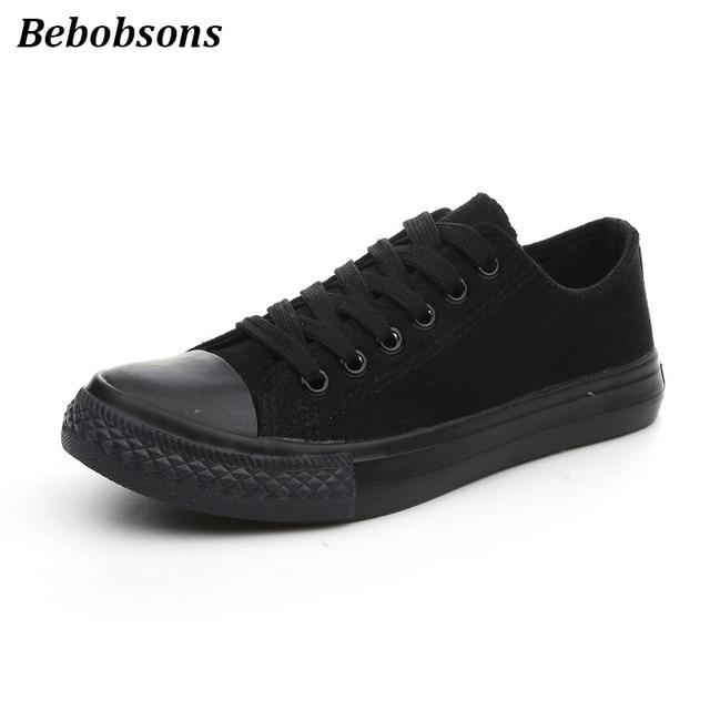 Новые женские парусиновые туфли Весна-осень повседневная обувь на шнуровке женские дышащие кроссовки модные кроссовки на плоской подошве обувь Все Черный Большие размеры