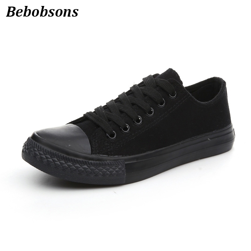 New women canvas shoes spring summer casual lace-up ladies breathable sneakers fashion flats trainers shoes all black big size doratasia new women lace up good quality fashion sneakers flat platform shoes woman casual spring flats big size 31 43