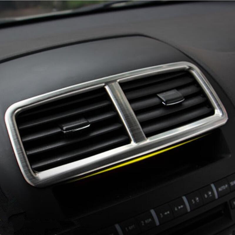 e5179295fb ᐂالفولاذ المقاوم للصدأ سيارة الهواء تنفيس الزخرفية الأوسط الإطار ...