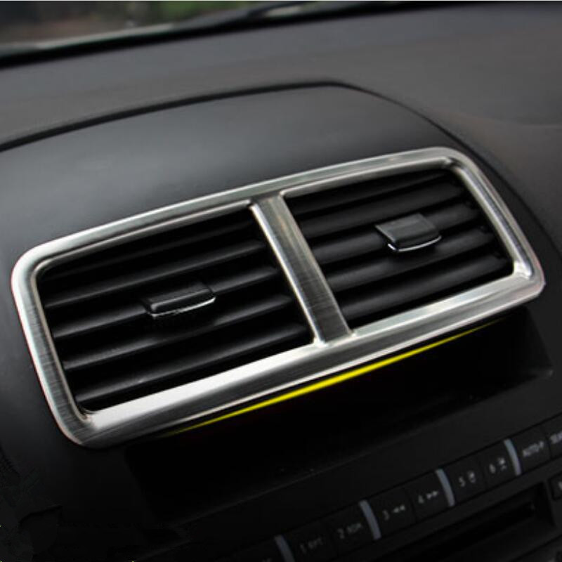 Stainless Steel Car middle air vent decorative frame trim sticker car-styling case for Mitsubishi ASX Outlander,auto Accessories