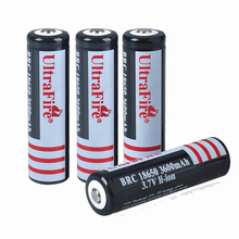 2pcs/ lot UltraFire BRC 18650 3000mAh Li-ion Rechargeable Batteries 18650 Battery for flashlights