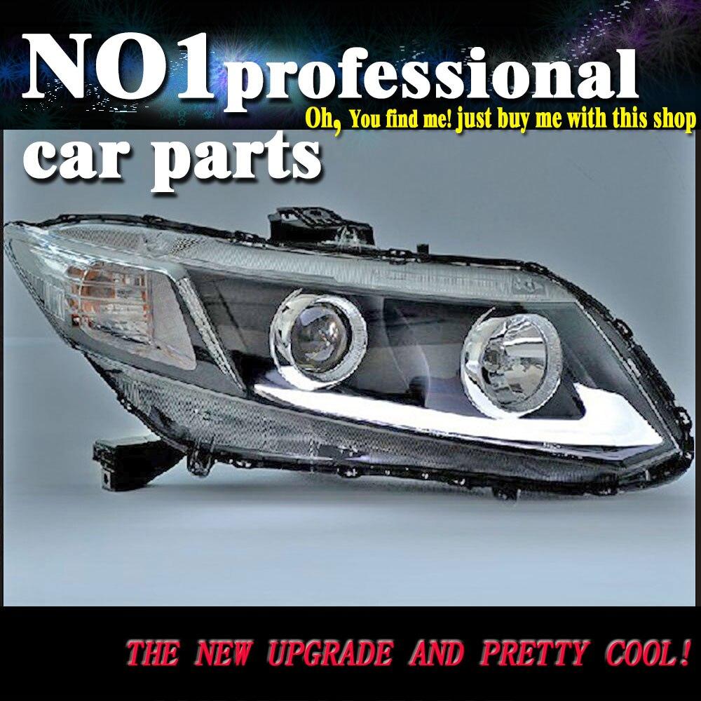 Phare avant de voiture pour Honda Civic phares 2012-2015 L barre de LED DRL phare Q5 Bi xénon lentille feu de croisement ampoule D2H