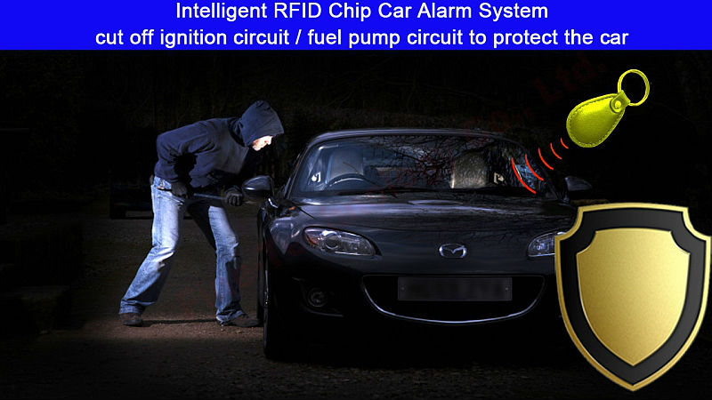 12V car anti theft engine stop relay immobilizer engine shut down relay car security device RF