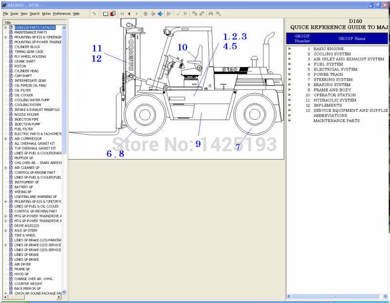 doosan forklift 2012 parts catalogue for doosan daewoo forklifts in rh aliexpress com Daewoo Fork Lift Parts Manual Daewoo Forklift Parts