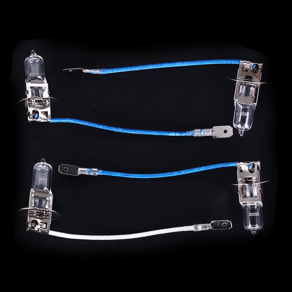 2 pces h3 35 w 55 70 w 100 12 v iluminação halogênio bulbos bulbo de tungstênio com cabo máquina ferramenta lâmpada trabalho