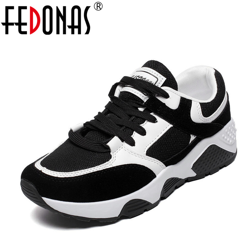 FEDONAS 2018 New Women Sneakers Flats Shoes Woman Platforms Creepers Female Casual Flats Ladies Breathable Loafer Sport Shoes new summer shoes women breathable air mesh woman loafers platforms female flats shoe casual wedges ladies footwear driving shoes
