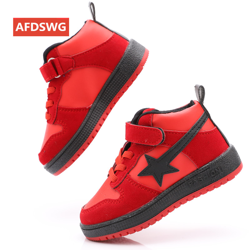 AFDSWG spring and autumn fashion black five pointed star casual sneakers for boys red kids shoes for girl sneakers kids in Sneakers from Mother Kids