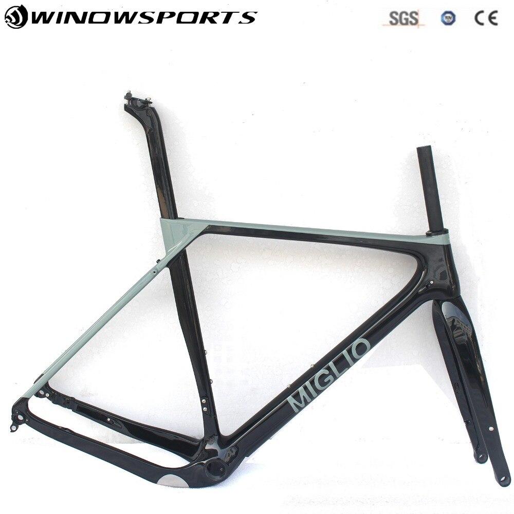 Super Light Carbon Gravel Bike Frame Thru Axle 142*12 Disc Brake Cyclocross Gravel Carbon Bicycle Frame