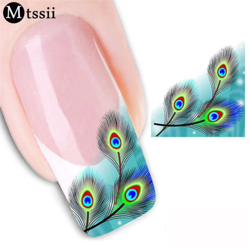 Aliexpress Buy Mtssii 1 Sheet Feather Eyes Nail