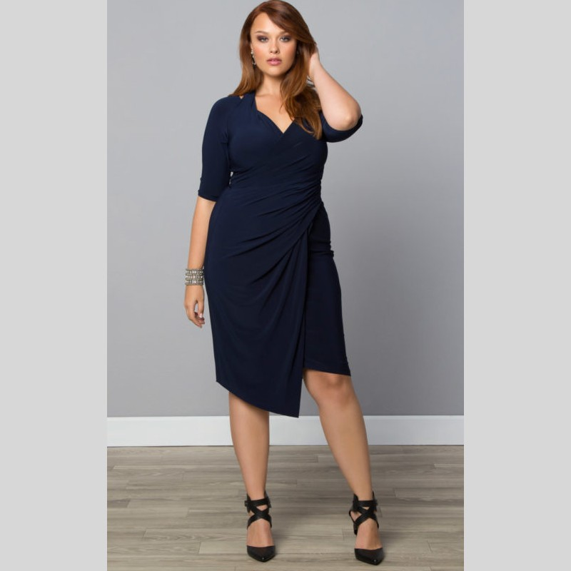 Simple Plus Size Homecoming Dresses Half Sleeves Knee Length ...
