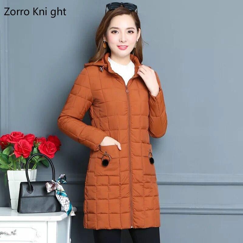 Zorro Kni Ght 2018 automne et hiver nouvelle chemise en coton pour femme Slim à capuche grande taille en coton rembourré veste XL-6XL