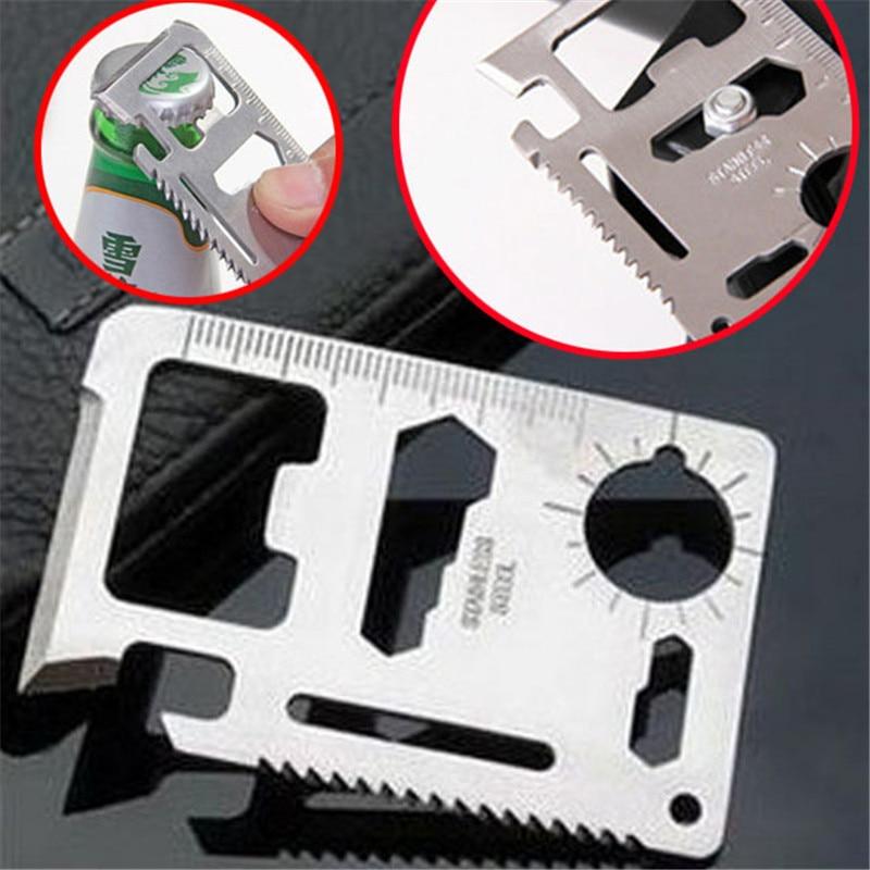 survive bottle kit multifunction Knife credit pocket tool edc gear camp card multi opener wallet outdoor gadget multipurpose(China)
