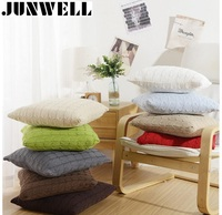 100 Cotton Knitted Both Sides Cushion Throw Pillow Sofa Office Back Cushion Baby Room Decorative