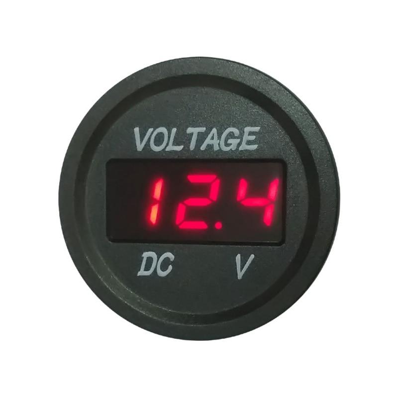 Universal Car Battery Voltmeter LED Digital Display Waterproof Motorcycle Voltage Meter Led Digital Voltmeter in Volt Meters from Automobiles Motorcycles