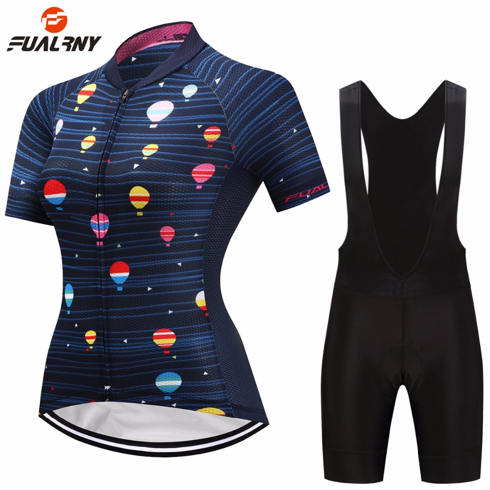 FUALRNY Womens Cycling Sets Bike Cycling Clothing Women Pro Team Bicycle Clothes Mtb Jersey Cycling Jerseys 2018 Ciclismo Ropa
