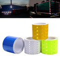 5cmx3m PVC Material Fluorescent Reflective Sticker Automobile Luminous Strip Car and Motorcyle Decoration Stickers 4Colors
