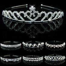 Crystal Rhinestone Pearl Headband Wedding Bridal Silver Party Hair bands