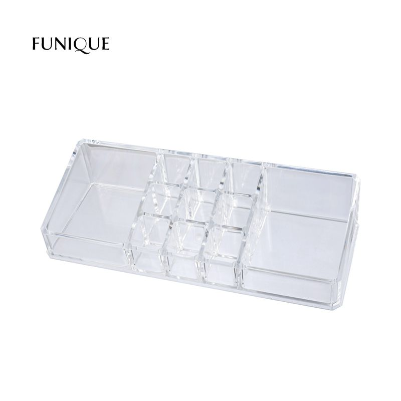 FUNIQUE Lipstick Holder Display Stand Makeup Organizer Storage Box For Jewelry Container Organizer For Cosmetics Storage