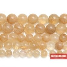 Pierre naturelle citrine Quartz lisse, perles amples 15 pouces, brin 4 6 8 10 12 14MM, taille au choix pour la fabrication de bijoux Q2