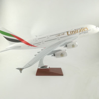 45 47CM Emirates Plane Aircraft Airbus A380 Airplane model Toy for children Industrial gift Collection Free EMS Express Shipping