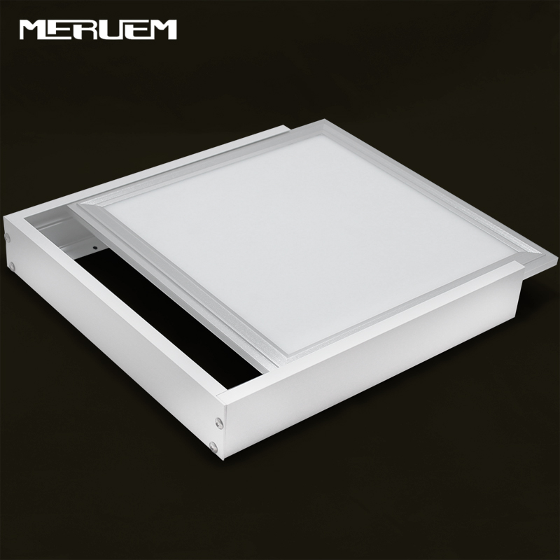 No cut ceiling!Aluminum Surface mounted metal structure frame for <font><b>led</b></font> <font><b>panel</b></font> 300*300 300*600 600*600 300*1200 mm Without lamp image